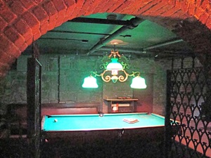 pool room inside the Steinway Mansion