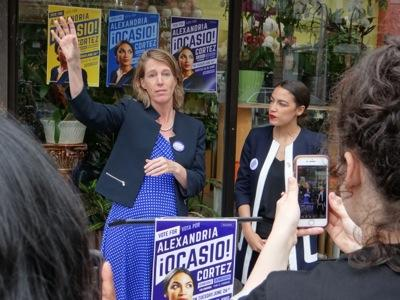 zephyr teachout candidate for attorney general photo w/ alexandria ocasio-cortez astoria queens bronx nyc teachout photo ocasio photo